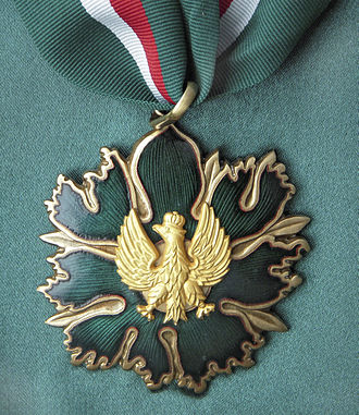 Medal for Merit to Culture – Gloria Artis - Gold Medal of Gloria Artis.