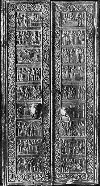 File:Gniezno Cathedral door.jpg