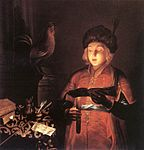 Gobin, Michel - Young Man with a Candle - 1681.jpg