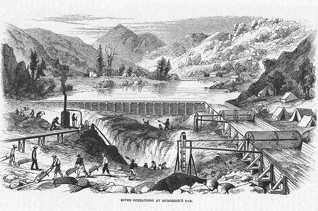 Калифорнийская золотая лихорадка, 1850-е годы.