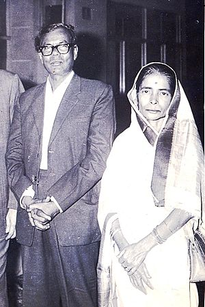 Gopinath Mohanty - Gopinath Mohanty with wife Adaramani in 1960s