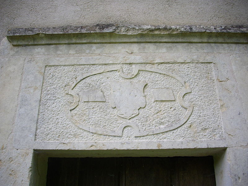 Saint Clement chapel of Gorze (Moselle, France). Relief of coat of arms