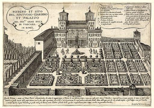 Gottfredus de Scaichi Giardino Villa Medici ubs G 0806 III