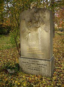Gedenkstein für Johanne Wagner-Geyer und Tochter Rosalie Marbach, geb. Wagner, Alter Johannisfriedhof Leipzig (Quelle: Wikimedia)