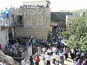 The Grave of Rabbi Simeon bar Yochai in Meron on Lag Ba'Omer