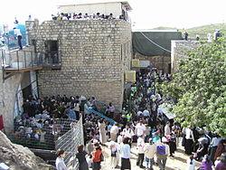 Meron'daki Kabalist Şimon bar Yochai'nin mezarı