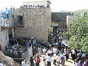 Lag BaOmer - The tomb of Rabbi Shimon bar Yochai in Meron on Lag BaOmer.
