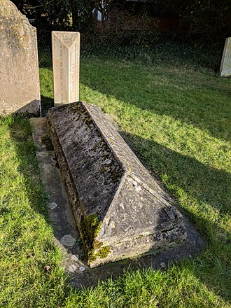 John Clare - Clare's grave in Helpston churchyard