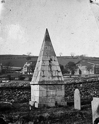 David Richards (Dafydd Ionawr) - Grave of David Richards, Dolgellau, c.1875