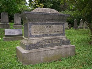 Samuel Francis Smith - Grave of Samuel Francis Smith, in Newton, Massachusetts