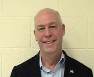 Greg Gianforte - Greg Gianforte's jail booking mugshot taken 93 days after his act of assault, on Friday, August 25, 2017 upon being booked and fingerprinted at the Gallatin County Montana Detention Center.