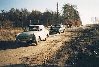 Bundesstraße 1 - Image: Grenzöffnung Bundesstrasse 1 (G. Mach)