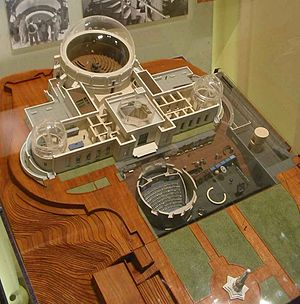 Griffith Observatory - A model showing the new underground exhibits