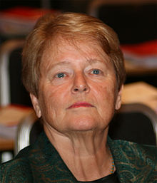 Gro Harlem Brundtland, former Director General of the World Health Organization (WHO). Wikiquote image.