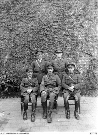 John Gellibrand - Gellibrand (front and centre) with his 12th Infantry Brigade staff officers