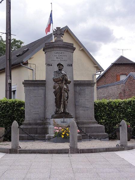 Grugies (Aisne) monument aux morts