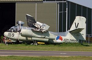 HNLMS Karel Doorman (R81) - Dutch Grumman S-2 Tracker