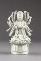 Guanyin barmhärtighetens gudinna gjord av porslin i Kina på 1700-talet - Hallwylska museet - 95549.tif