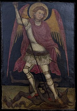 Guariento - San Michele Arcangelo combatte contro Satana.jpg