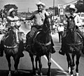 Gubernatorial candidates riding horses in the 42nd Annual Northwest Florida Rodeo parade in Bonifay, Florida.jpg