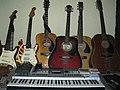 Guitars, harmonicas, keyboard, effects & mixer - Sir Theo, Belgaum, India (2011-11-23 08.30.25 by julian correa).jpg