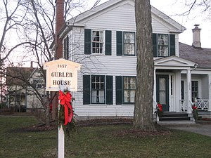 George H. Gurler House - The 1857 Gurler House in DeKalb, Illinois.