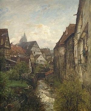Gustav Schönleber - Image: Gustav Schönleber Partie in der Esslinger Altstadt 1880