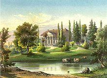 Gut Neudörfchen um 1860, Sammlung Alexander Duncker (Quelle: Wikimedia)