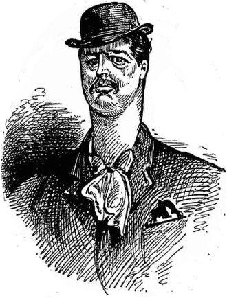 Henry Brougham Farnie - 1882 caricature of Farnie.