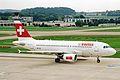 HB-IPU A319-112 Swiss Intl ZRH 04SEP02 (8266758370).jpg