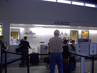 Hagerstown Regional Airport - Check-in counters