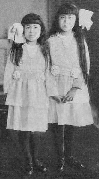 Prince Naruhisa Kitashirakawa - Image: HIH Kitashirakawa Mineko and Sawako