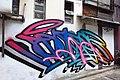 HK 上環 Sheung Wan 太平山街 Tai Ping Shan Street 水巷 Water Lane back Graffit wall painting April 2018 IX2 06.jpg