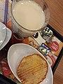 HK 大家樂 Cafe design Carol Fast Food Restaurant 下午茶餐 afternoon tea meal 朱仔包 bread 奶油 butter milk 炸菜米粉湯 rice noodle soup December 2019 SS2 04.jpg