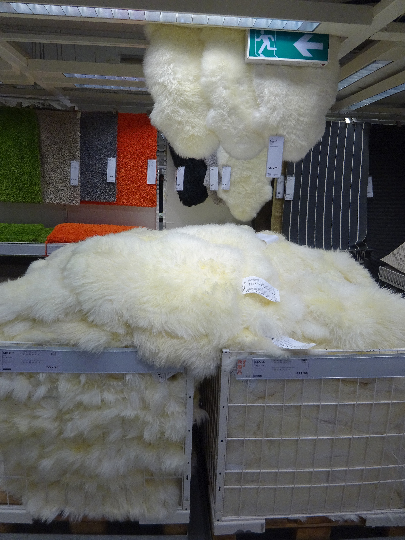 File HK CWB Park Lane basement shop IKEA Sheepskin carpet display