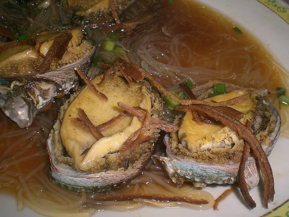 HK Food Chinese Seafood Dinner %E9%AE%91%E9%AD%9A%E4%BB%94 Steamed Abalone with Mandarin orange peels