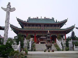 Religion in Hong Kong - Main hall of the Wun Chuen Sin Koon, a Taoist temple in Hong Kong.