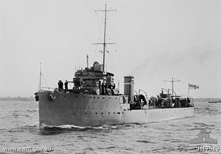 HMAS <i>Yarra</i> (D79) River-class torpedo-boat destroyer