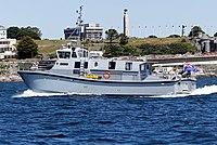 HMS Magpie (H130) on River Dart