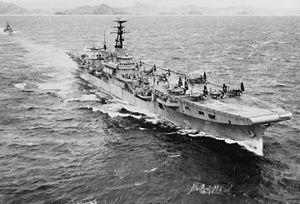 HMS Triumph (R16) - Image: HMS Triumph 1950