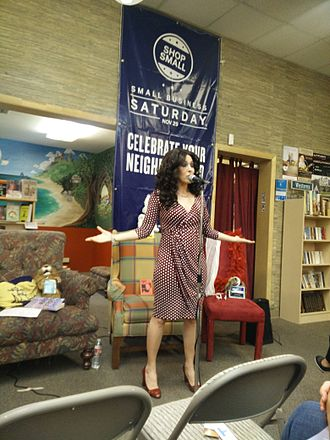 Performance poetry - H. O. Tanager performs at a bookstore in Boise, Idaho.