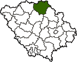 Gadyachsky district on the map