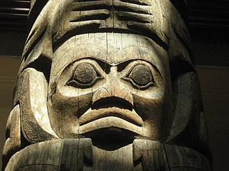 Museum of Archaeology and Anthropology, University of Cambridge - Image: Haida totem pole from Tanu