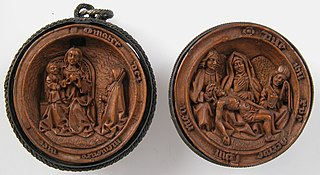 Prayer Bead with the Prayer of the Rosary and the Lamentation