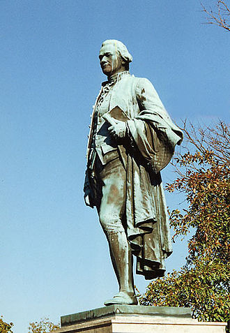 Great Falls (Passaic River) - Statue of Hamilton overlooking the falls