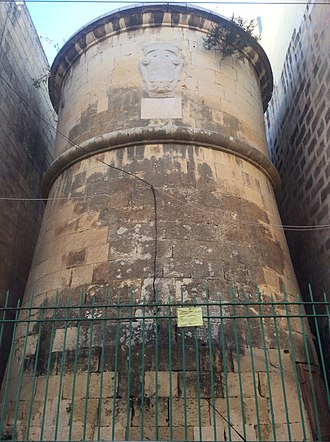 Ħamrun - Il-Monument tat-Tromba, a water tower built in the 17th century as part of the Wignacourt Aqueduct