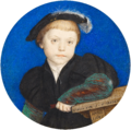 Hans Holbein the Younger - Henry Brandon, 2nd Duke of Suffolk (1535-51) - Google Art Project.png