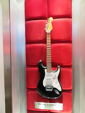 Richie Sambora - Sambora's Fender Stratocaster at the Hard Rock Cafe, London