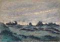Harpignies HJ attr. - Watercolour - Paysage de lande au crépuscule - 35.6x25.6cm.jpg