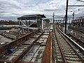 Harrison NJ PATH Station construction, April 2017.jpg